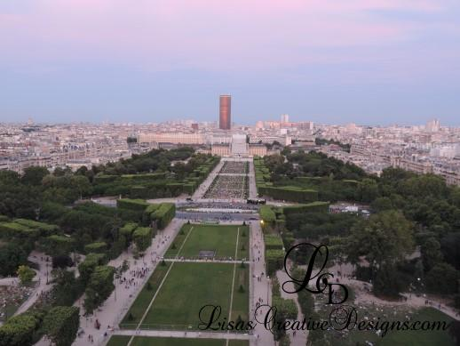 View Of Paris France From First Level Of The Eiffel Tower