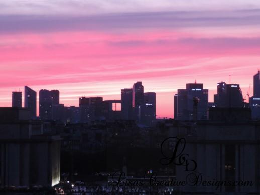 Paris France City Sunset