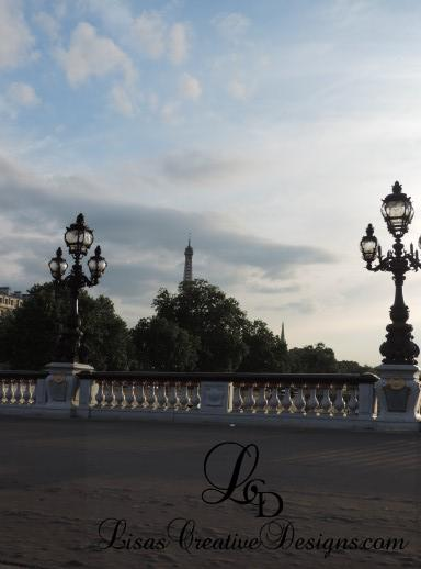 First Glimpse Of The Eiffel Tower in Paris France