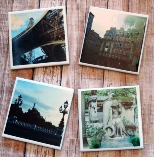 Paris France Photo Coasters