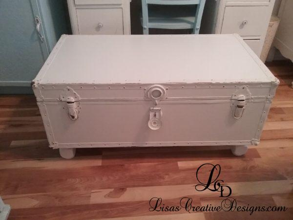 Thrift Store Trunk Foot Locker Makeover