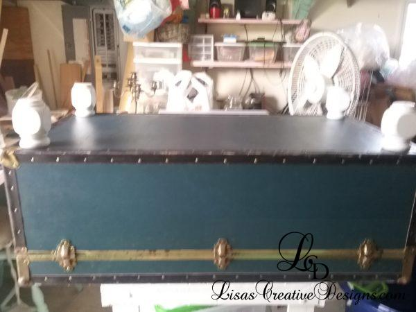 Adding Feet to a Thrift Store Trunk