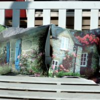 Pair Of Beautiful English Cottage Photo Pillows