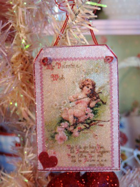 Vintage Victorian Valentine Ornament