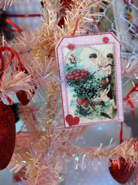 Vintage Inspired Valetine's Day Themed Ornament