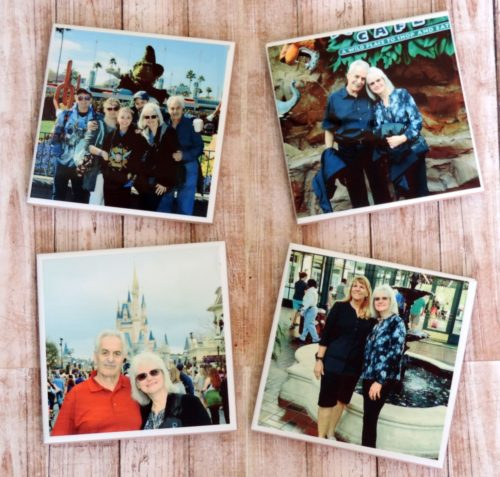 Personalized Photo Ceramic Coasters, Vacation Memory Coasters