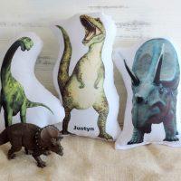 Personalized Stuffed Dinosaur Pillow