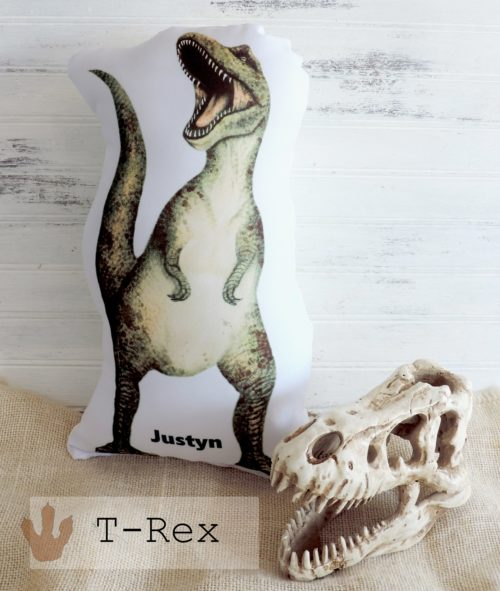 Personalized T-Rex Dinosaur Pillow