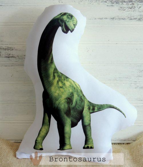 Stuffed Brontosaurus Dinosaur Pillow