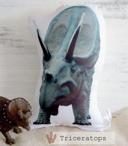 Stuffed Triceratops Dinosaur Photo Pillow