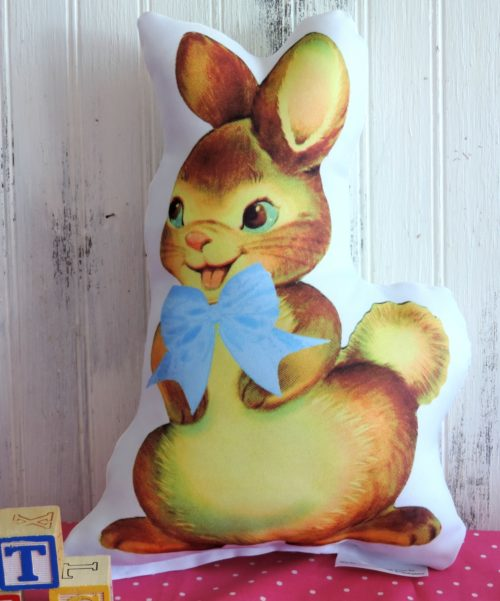Personalized Boy Bunny Pillow