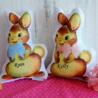 Personalized Stuffed Easter Bunny Rabbit Pillow