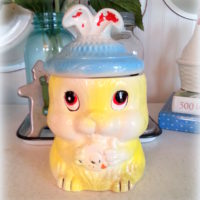 Vintage Kitsch Bunny Rabbit Cookie Jar