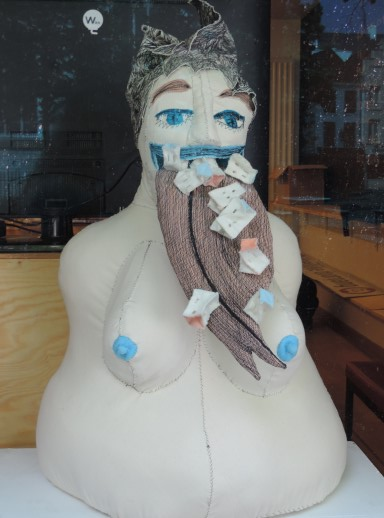 Interesting Store Window Art In Kortrijk, Belgium