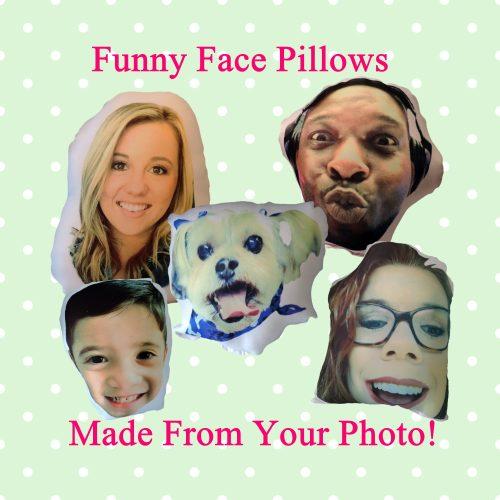 Custom Funny Face Photo Pillows