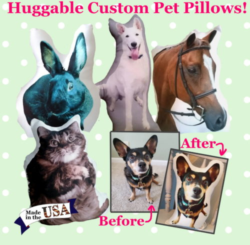 Custom Pet Photo PIllow Made IN The USA