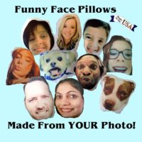 Personalized Funny Face Gift Pillow Made From Your Photo