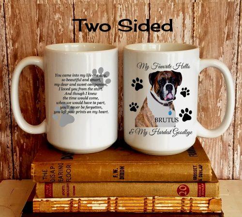Personalized Pet Photo Bereavement Mug