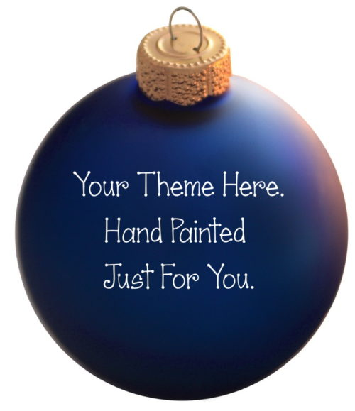 Custom Painted Christmas Ornament