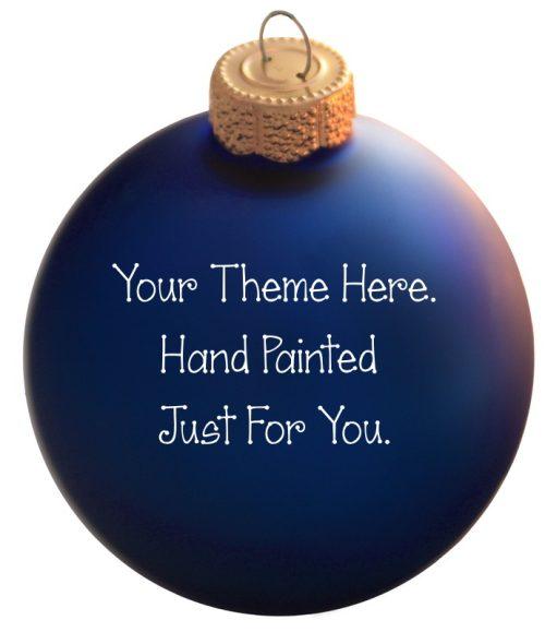 Custom Painted Christmas Ornament