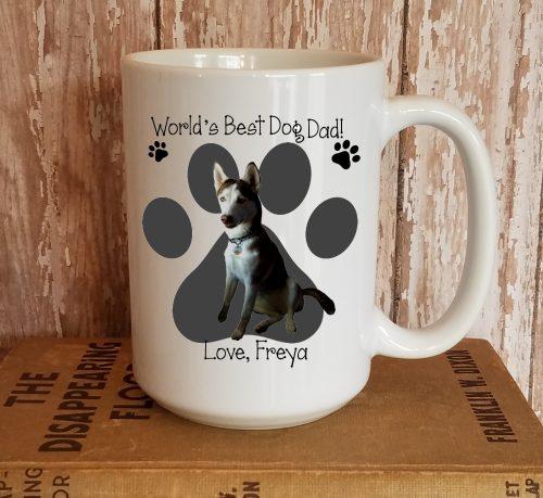 Personalized Worlds Best Dog Dad Photo Mug