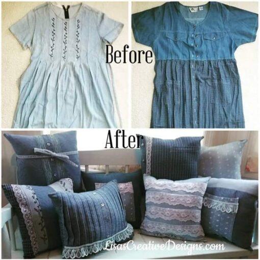 Custom Memory Pillow Keepsake Made From Loved One's Clothing, Wedding Or Bereavement Gift