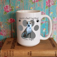personalized worlds best dog mom photo coffee cup mug