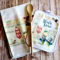 Personalized Retro Recipe Kitchen Towel and Potholder Set