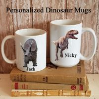 Personalized Dinosaur Coffee Mug Cup