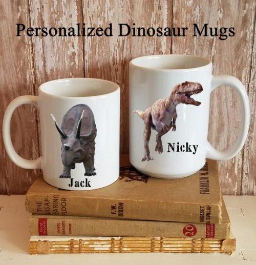 Personalized Dinosaur Coffee Mug Cup