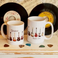 Personalized Electric Guitar Coffee Mug Cup