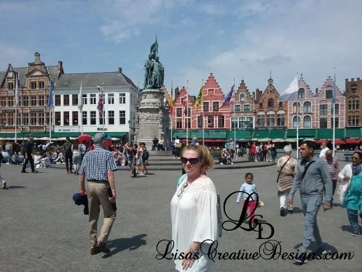Grote Markt Market Square in Bruges Belgium