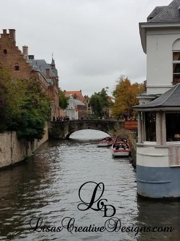 Canal View in Bruges, Brugge Belgium