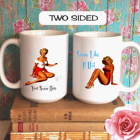 Personalized Some Like It Hot Pinup Girl Coffee Mug