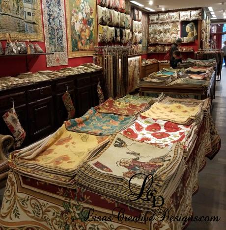 Tapestry Shop in Bruges Belgium
