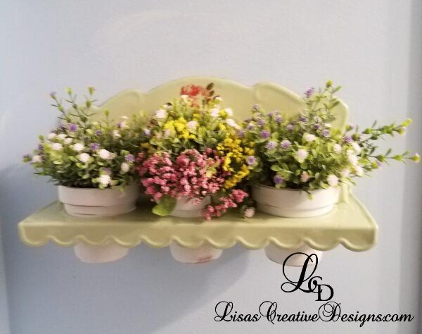 Cottage Country Flower Pot Shelf