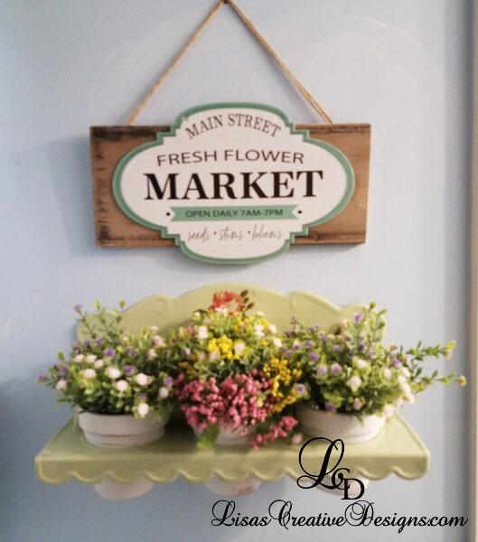 Dollar Store Crafts: Sweet Flower Market Sign Makeover