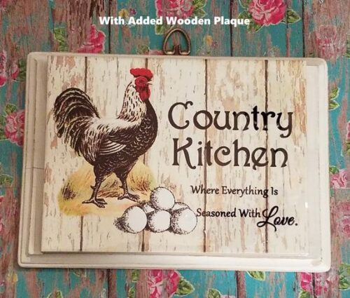 Personalized Rooster Country Kitchen Plaque