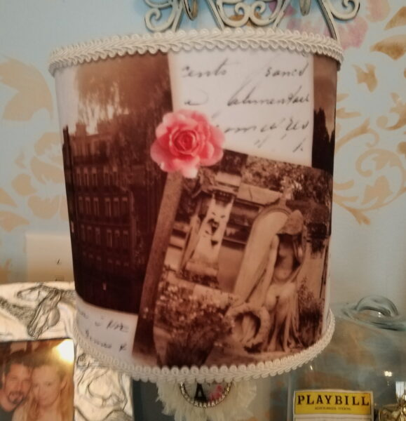 Fabric Covered French Lampshade