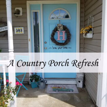 A Country Style Front Porch Refresh
