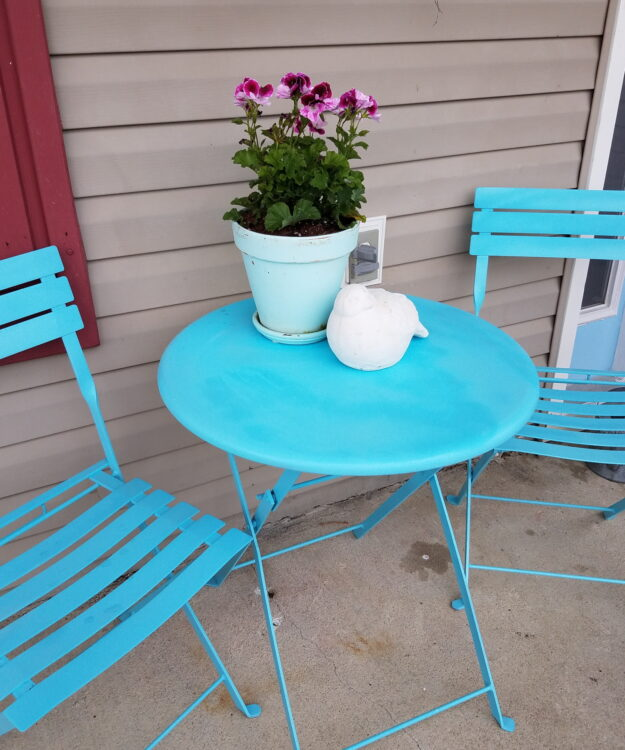 Spring Porch Refresh Turquoise Bistro Set