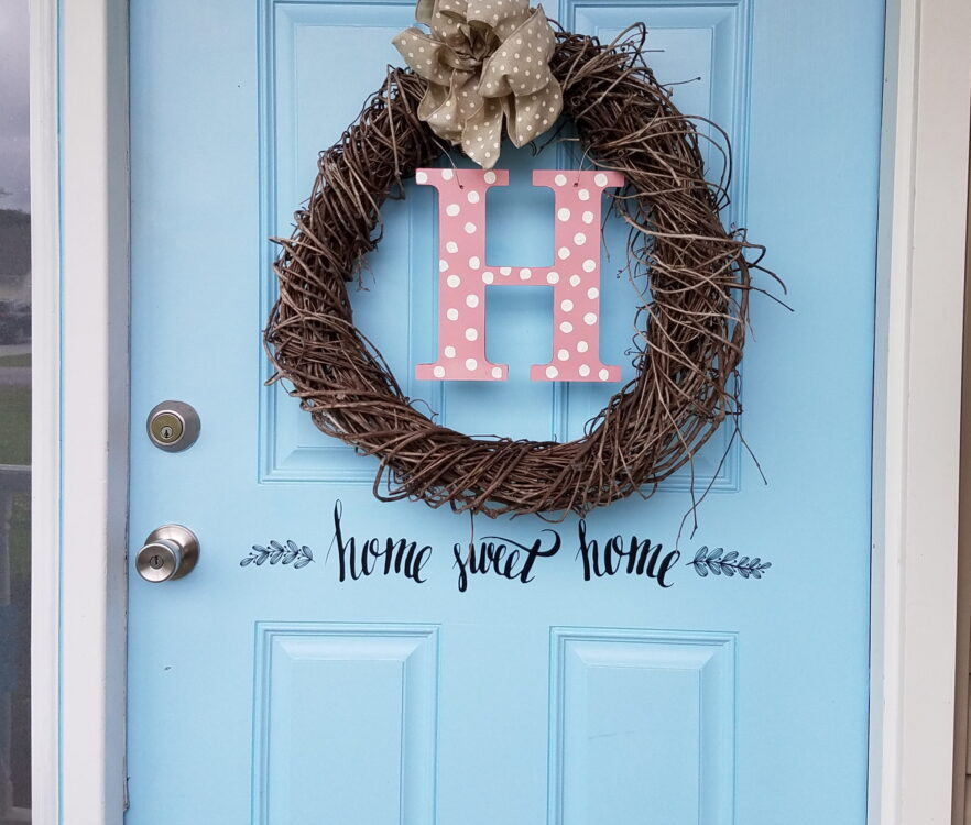 Country Porch Refresh Dollar Tree Sticker Letters For Front Door