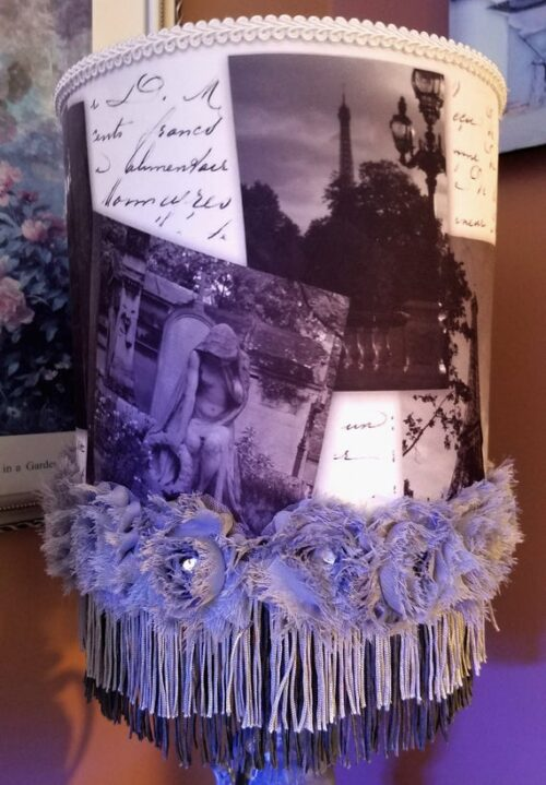 Gray Paris Table Lampshade